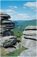 View from Combestone Tor to Dartmeet, Dartmoor National Park
